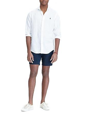Ralph Lauren Camisa Polo Sport Shirt Blanca: Amazon.es: Ropa y ...