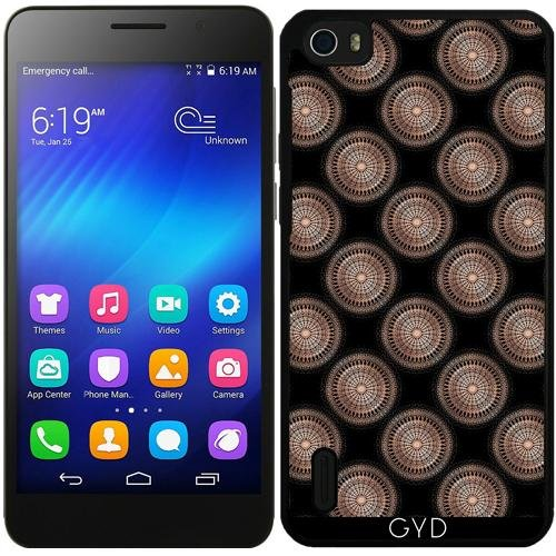 Funda de silicona para Huawei Honor 6 - Subió El Modelo De Puntos Negro De Oro by Nina Baydur