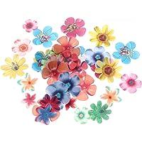Yardwe 180pcs Edible Flowers for Cake Decorating Rice Paper Flower Cake Topper Cupcake Decor for Wedding Birthday Party…