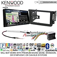 Kenwood DNX874S Double Din Radio Install Kit with GPS Navigation Apple CarPlay Android Auto Fits 2012-2013 Volkswagen Beetle, 2010-2013 Golf, 2006-2013 Jetta