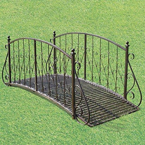 Chemin_de_campagne ponte passerella giardino Ruscello ponte passerella Metal Ferro 185 cm