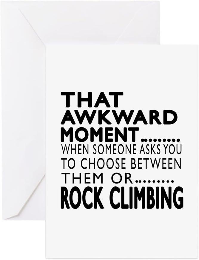 CafePress – Tarjeta de felicitación con diseño de escalada de ...