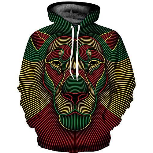 Cappotto Felpa Giacca Pullover Hooded 3d Sweatshirt Cappuccio Manica Felpe Outwear shirt Lunga T Autunno Multicolore Uomo Con Stampa Inverno Hoodie Challenge Top P7wqd44