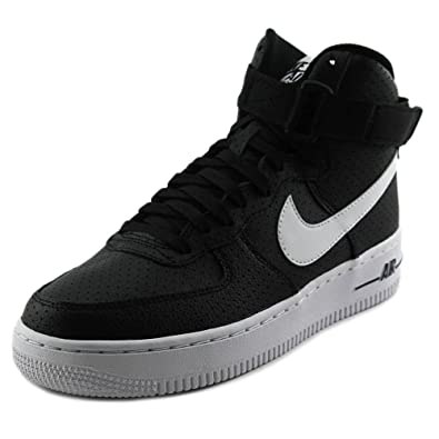 huge discount 343f6 5407f NIKE Air Force 1 High Youth Round Toe Black Basketball Shoe