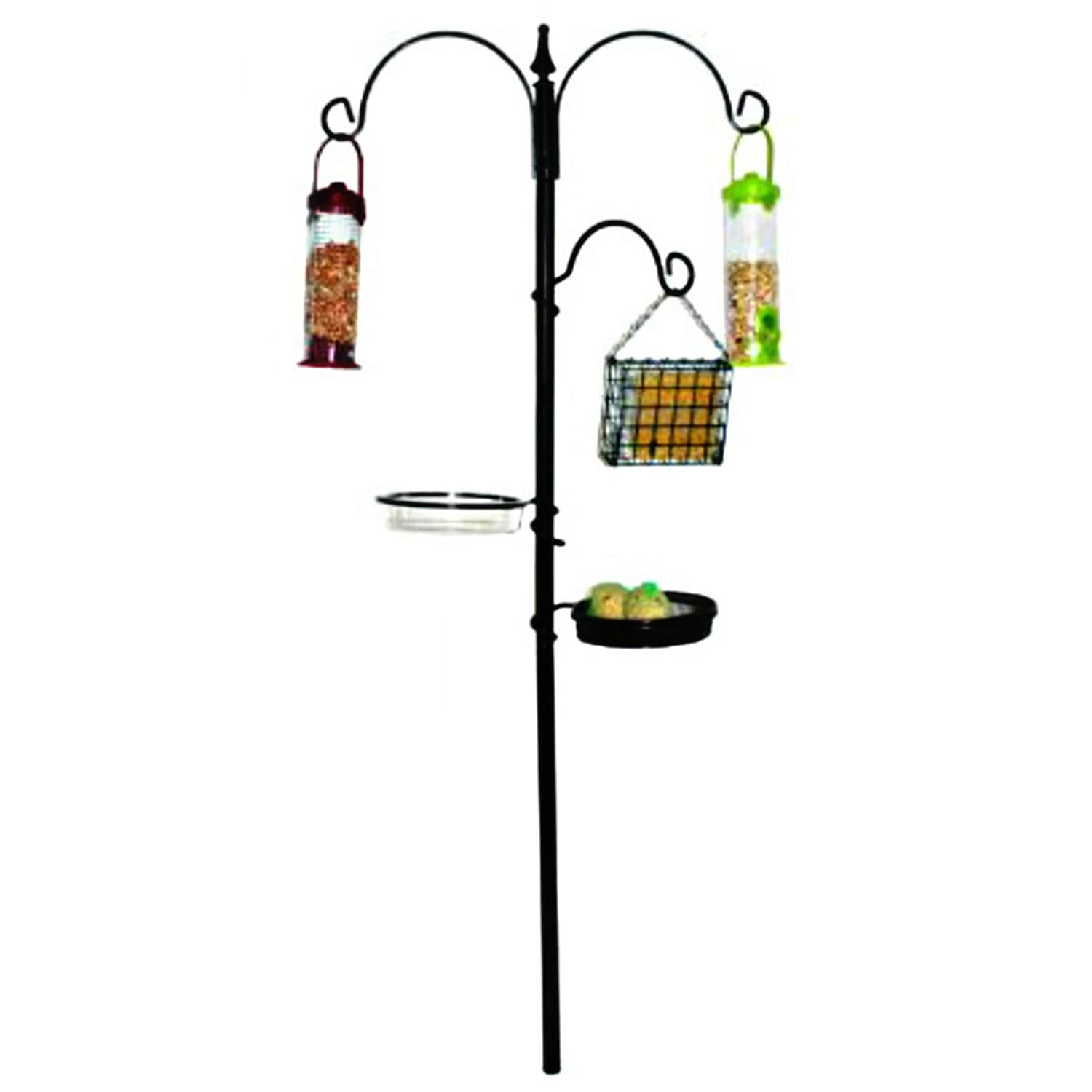 WILD BIRD FEEDING STATION WITH FEEDERS GARDEN HANGING WATER BATH TABLE SEED TRAY