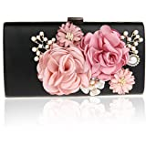 EPLAZA Women Large Capacity Flora Evening Party Bags Clutch Purse Vintage Wedding Handbags Wallet