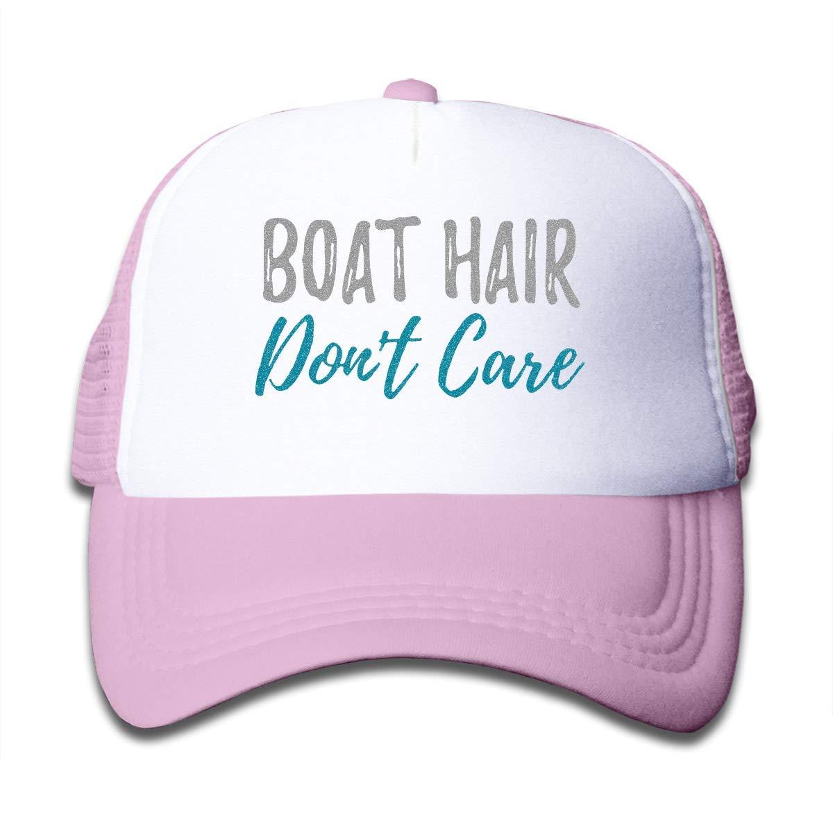 Magic Jame Kids Boat Hair Don't Care Mesh Cap Trucker Hats Adjustable Baseball Cap Children Plain Hat