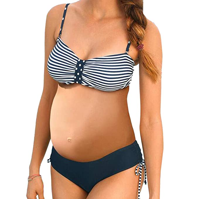 Estampado de Rayas Bikini