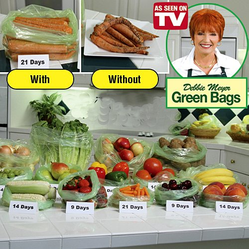 Debbie Meyer 50 Piece Environmental Green Bag  Keep Fruits And Vegetables Longer