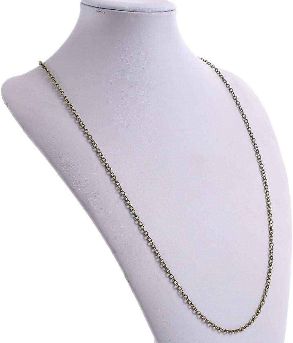 """long 30/"""" 12 PCs Lobster Clasp Link Chain Necklaces Bronze Tone 76.2cm"""