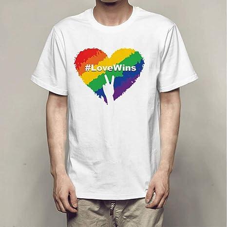 CWHao Camiseta Creativa con Tendencia de Personalidad ...