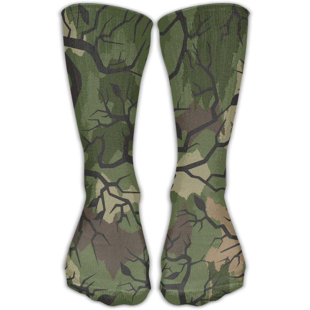 SARA NELL Women Lady Girls Classics Crew Socks Thorn Camouflage Trunk Personalized Athletic Dress Socks 30cm Long-All Season