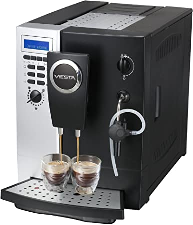 Máquina de café Viesta Eco 200 Cafetera totalmente automática Café Espresso Cappuccino Latte Macchiato: Amazon.es: Hogar