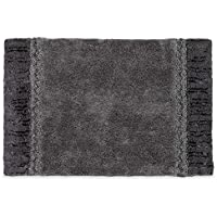 Avanti Braided Medallion Light Grey and Dark Grey 20 x 30 Tufted Cotton Bath Rug