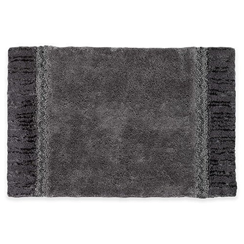 "Can Bathroom Rugs Go In The Dryer: Avanti Braided Medallion Light Grey And Dark Grey 20"" X 30"