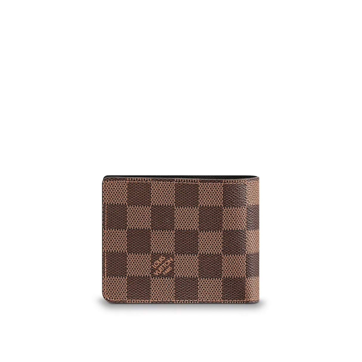 8dbd19fffcc4 Amazon.com  Louis Vuitton Damier Slender Wallet Article  N61208 Made in  France  Sports   Outdoors
