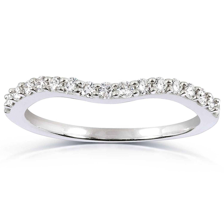curved round diamond wedding band ring 1 4 carat ctw