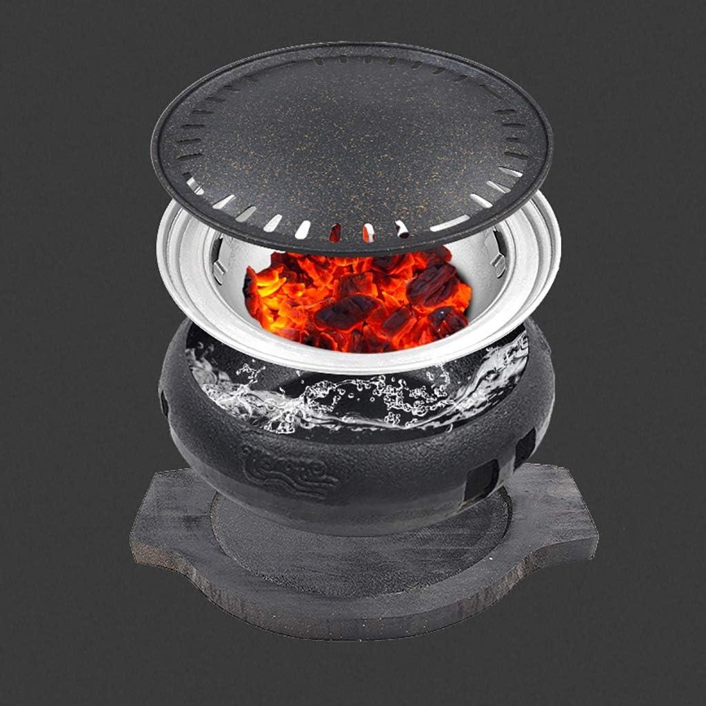 Guoguocy Grills électriques Barbecue, Charbon sans fumée Grill, Variété de Grilled Grils, Barbecue en Fonte Poêle Viande, intérieur, extérieur 10 Styles (Color : C) F