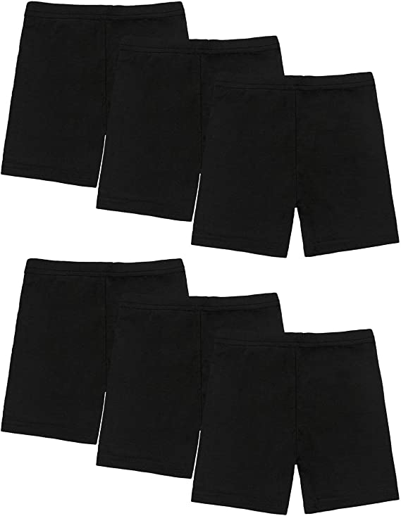 ALLURE Maek 6 Pack Dance Shorts Girls Bike Short Breathable and Safety 6 Color