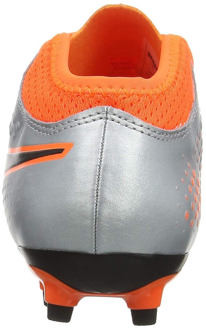 PUMA One 4 FG Firm Ground Kids Soccer Cleat Uprising Silver//Orange UK 13