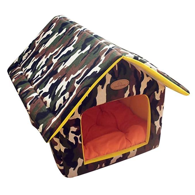 Amazon.com: Cama para mascotas, casitas para perros grandes ...
