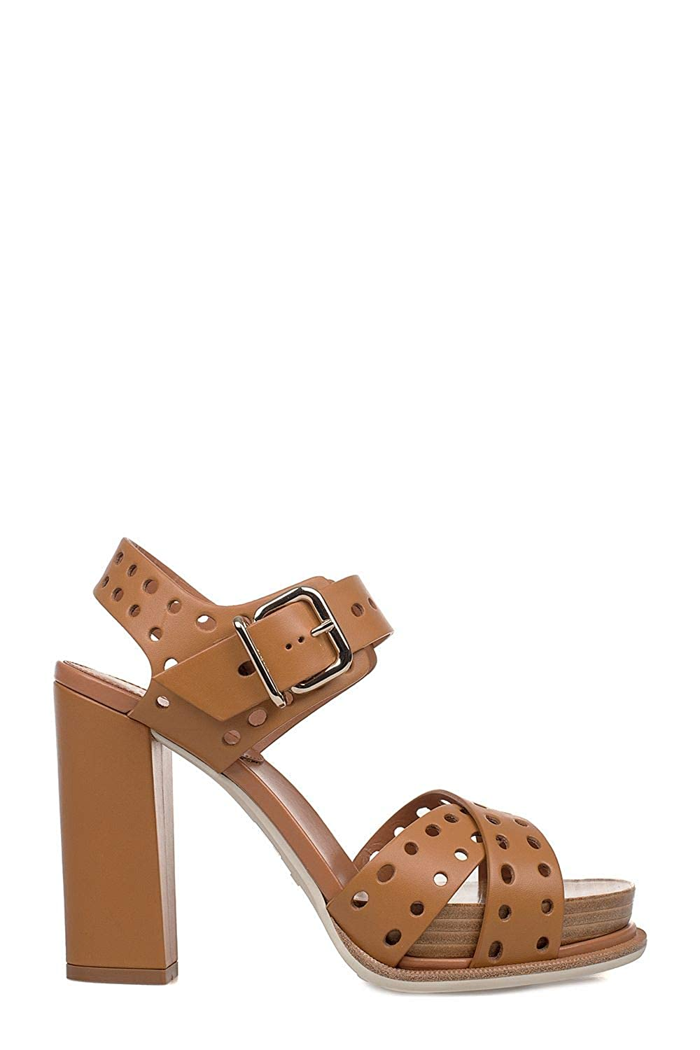 - Tod's Women's XXW18A0Y350NB5S002 Brown Leather Sandals