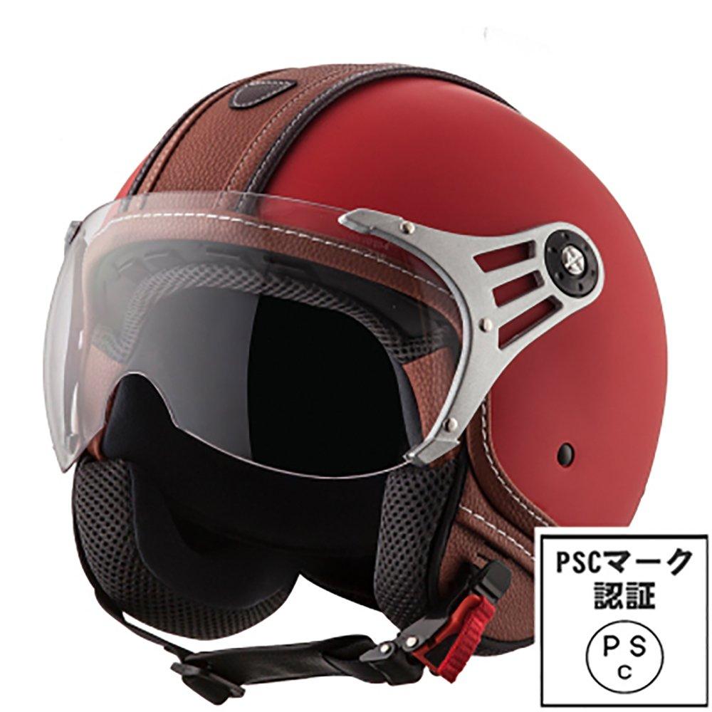 HONZ バイクヘルメット ハーフ ジェットヘルメット 半帽ヘルメット ハーフバイクヘルメット 通気 パイロット【PSC 規格認定】 (XL, カラー6) B07CZZD4JC XL|カラー6 カラー6 XL