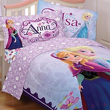 Amazon.com: Frozen Celebrate Love Comforter and Sheet Set Twin ...
