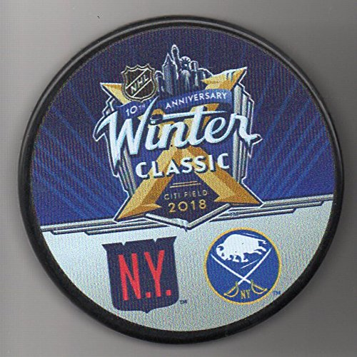 - 2018 Winter Classic New York Rangers vs Buffalo Sabres Citi Field NHL Hockey Puck + FREE Cube