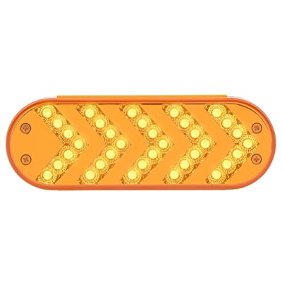 Grand General 77124 Oval Amber Sequential 5-Arrow Spyder 35LED Light, Amber Lens, 1 Pack: Automotive