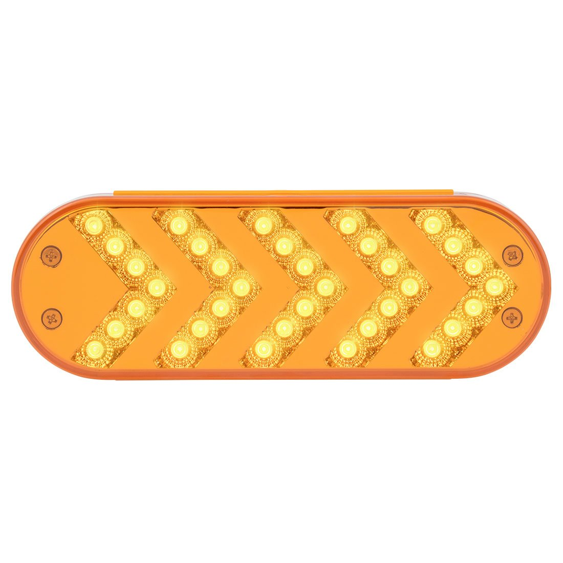 GG Grand General 77124 Oval Sequential 5-Arrow Spyder 35Led Light, Amber Lens