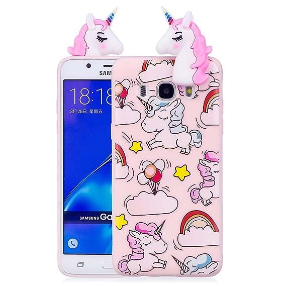 best service 39789 60468 Amazon.com: Aeeque J5 6 Case, Galaxy J5 2016 Case [Unicorn Pink ...