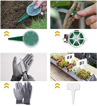 YISSVIC 12Pcs Jerdín Kit de Jerdinería Juegos de Herramientas con ...