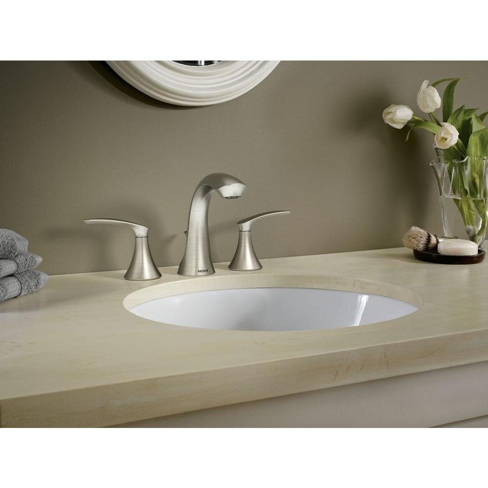 Darcy 8 in Widespread 2-Handle High-Arc Bathroom Faucet in Spot Resist Brushed