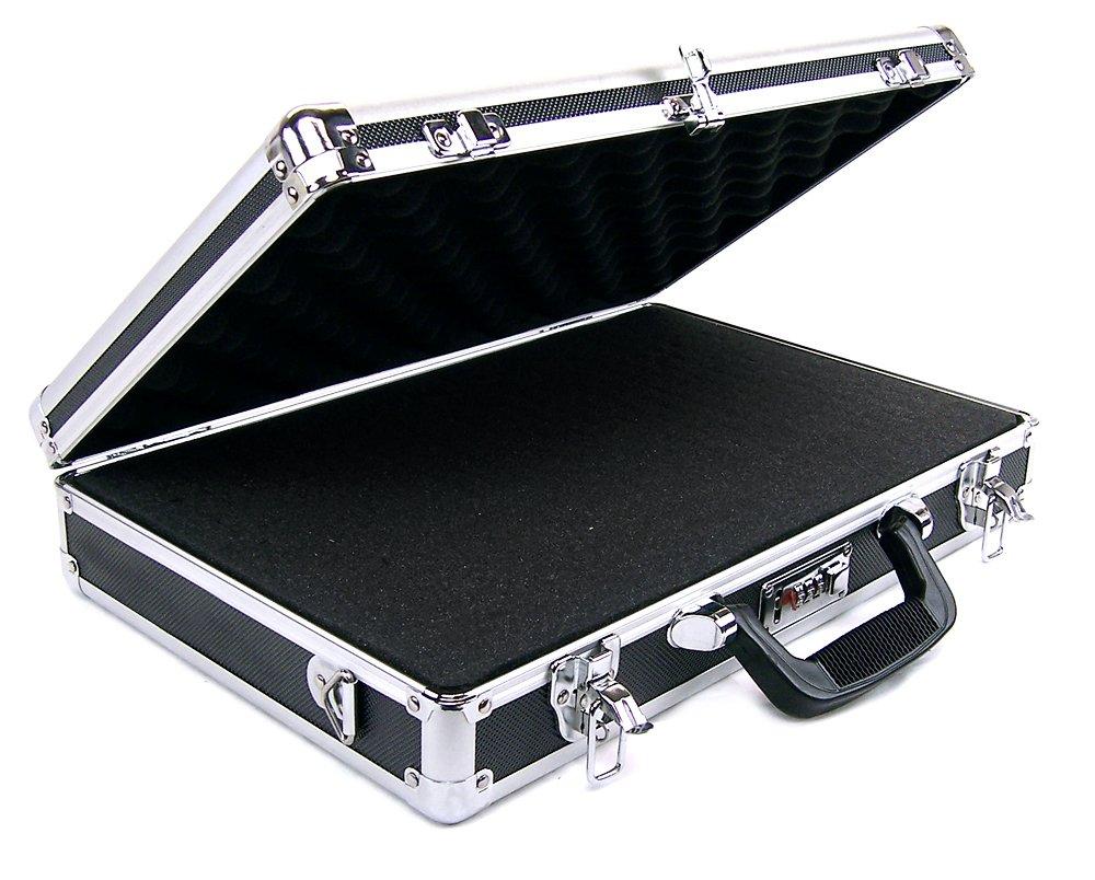 Common Sense Cases Guardian Aluminum Double/Triple Pistol Case, Black/Silver CASE-1026-F