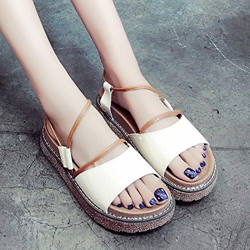 Brown UE mujeres de verano gruesos de Las Instituto sandalias Zapatos zapatos RUGAI confort viento qUdwORggE