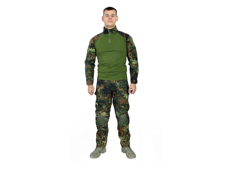 mit 10 Taschen /& abnehmbaren Knieschonern Flecktarn BEGADI Basics Combat Pants//Hose