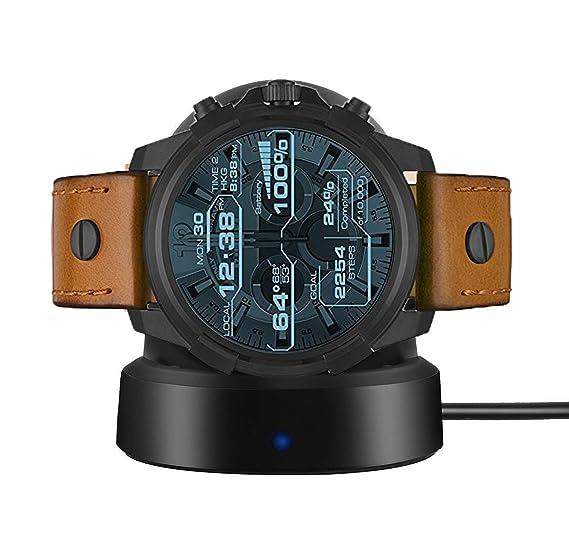 for Diesel Smartwatch Charger, LvBu W ireless Charging Dock Cradle Charger for Diesel Smartwatch DZT2002 DZT2003 DZT2004 DZT2005 (Black)