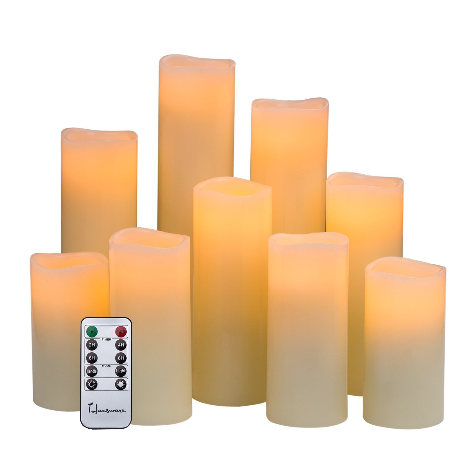Image is loading hausware flameless candles battery operated candles h 4