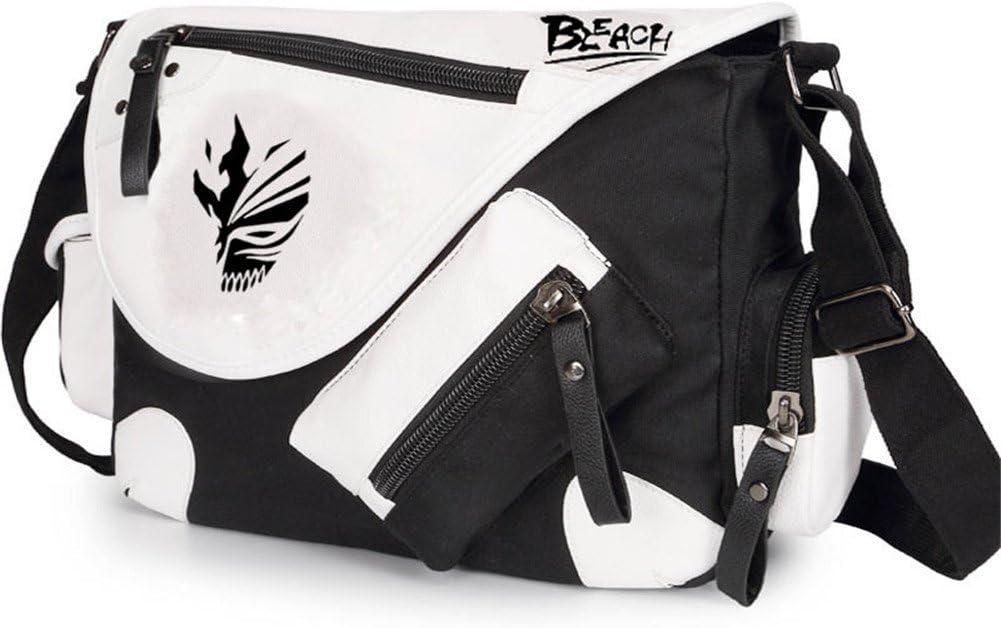 Gumstyle BLEACH Anime Cosplay Canvas Messenger Bag Crossbody Sling Shoulder Schoolbag for Boys Girls Black 1