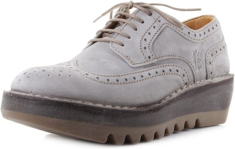 Fly London Womens Jane Suede Concrete