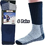 thermal sock for woman - Womens Thermal Socks Heavy Extreme Cold Weather Boot Socks 6-pack By DEBRA WEITZNER