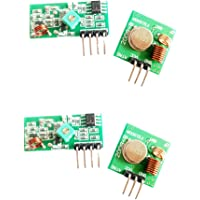HiLetgo 2 Sets 433M Transmitter + Receiver Kit High Frequency Super Regenerative Transceiver Module for Burglar Alarm