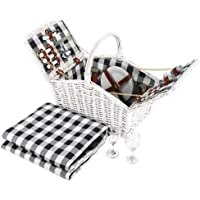 Deluxe 2 Person Picnic Basket Baskets Outdoor Corporate Gift Blanket Park