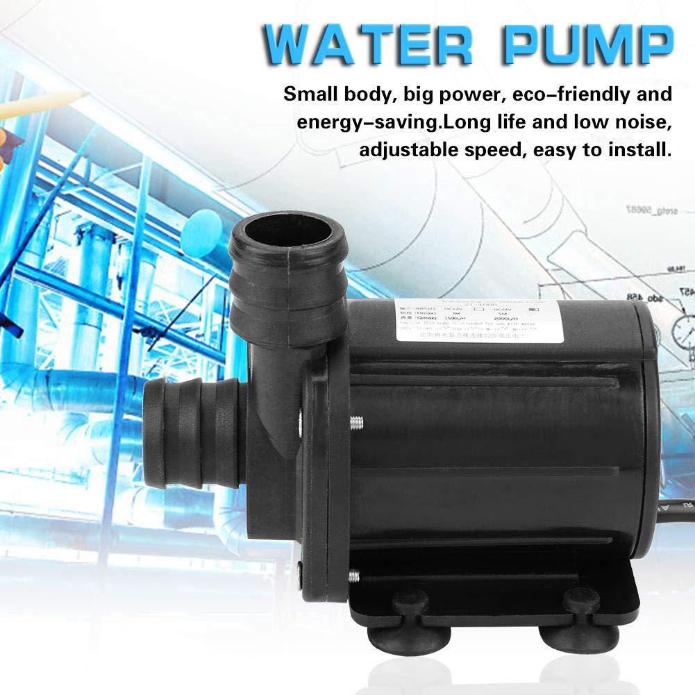 mini vitesse r/églable durable sans brosse 1500L H JT-1000A-12 pompe de suralimentation 20mm 12V 40~100 Pompe /à eau de suralimentation