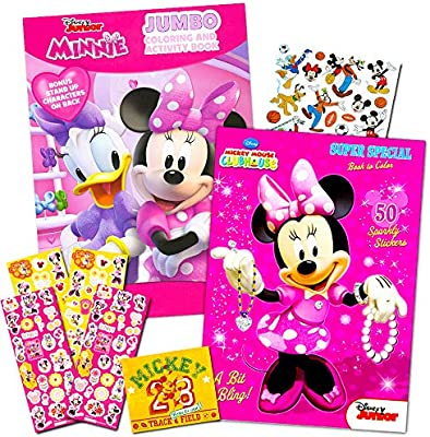 - Disney Minnie Mouse Coloring Book Set With Stickers -- 2 Deluxe Coloring  Books And Over 150 Stickers: Amazon.sg: Toys & Games