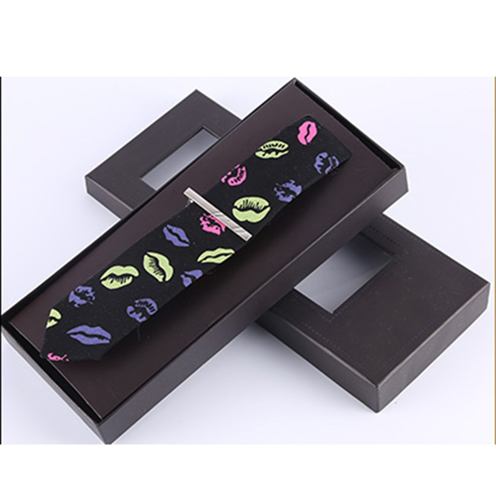 Color : B Tie Pins Tie Male Formal Clothes Business Korean Bridegroom Casual self-Cultivation Style European and American Fashion Mature Clips