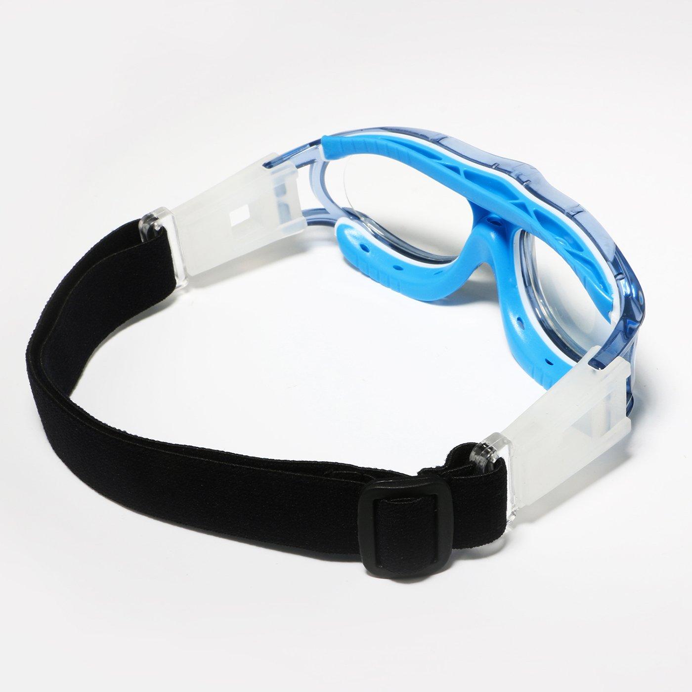 Tongshop Sto/ßfeste Sportbrille f/ür Kinder//Teenager mit verstellbarem//austauschbarem Sicherungsband