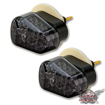 LED Mini Verkleidungsblinker Yamaha YZF R6 09 16 RJ05 RJ09 RJ11 Smoke Schwarz Getont
