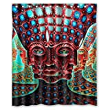 Abstract Psychedelic Alex Grey Trippy Art Pattern Design Bathroom Mildew Proof Polyester Fabric 60 X 72 Inch Inch Shower Curtain by Hot Curtain